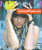 Christina Aguilera es el tema de pantalla
