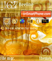 Hair Gold S60v3 theme screenshot
