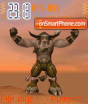Animated Monster theme screenshot