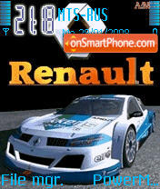Animated Renault Megane es el tema de pantalla