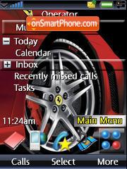 Red Ferrari theme screenshot