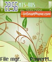 Green Abstract 02 theme screenshot