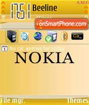 Nokia Theme es el tema de pantalla