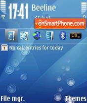 Aqua Bubbles theme screenshot