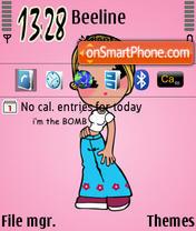 Pinky Girl es el tema de pantalla