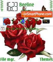 Roses And Butterfly es el tema de pantalla