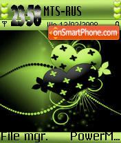 Abstract Heart ver2 s60 es el tema de pantalla