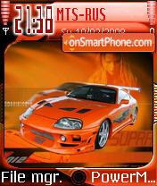 Supra Car es el tema de pantalla