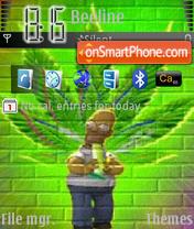 Homer Weed es el tema de pantalla
