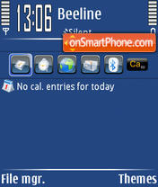 Lite Blue theme screenshot