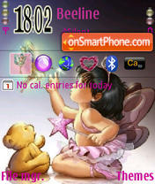 Fairy and Bear theme screenshot