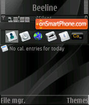 Pure Black S60v3 es el tema de pantalla