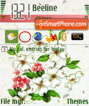 Nice Flower tema screenshot