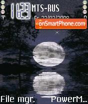 Animated Moon es el tema de pantalla
