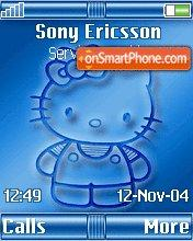 Blue Kitty Z610 es el tema de pantalla