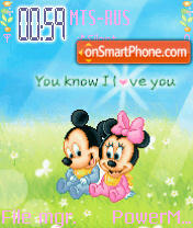 U Know I Luvu Animated theme screenshot