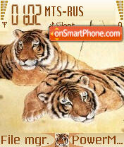 Tiger Love theme screenshot