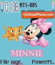Animated Minnie theme screenshot