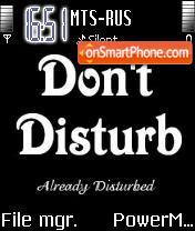 Don't Disturb es el tema de pantalla