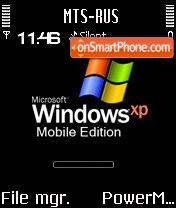 Animated Windows XP Mobile S60v2 theme screenshot