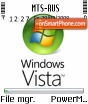 Animated Vista S60v2 theme screenshot