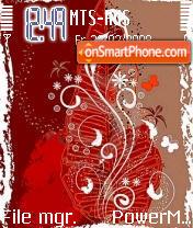 Red And White theme screenshot
