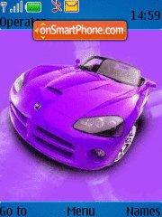 Violet Dodge Viper theme screenshot