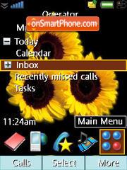Sun Flowers theme screenshot