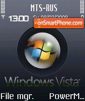 Animated Brushed Metal Vista S60v2 theme screenshot