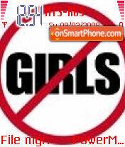 No Girls es el tema de pantalla