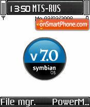 OS Symbian theme screenshot