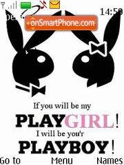 Capture d'écran Playboy Playgirl thème