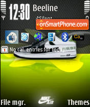 Nike Air theme screenshot