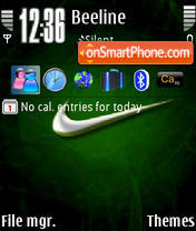 Nike Green theme screenshot