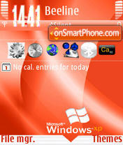 Windows XP Update s60v3 theme screenshot
