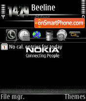 Nokia Connected s60v3 theme screenshot