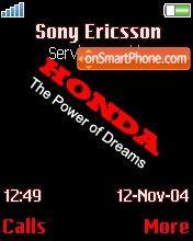 Honda es el tema de pantalla