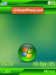 Green vista w910i es el tema de pantalla