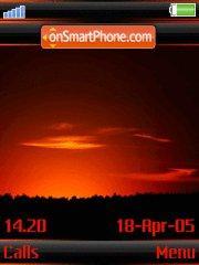 Sunset v3 w910i es el tema de pantalla