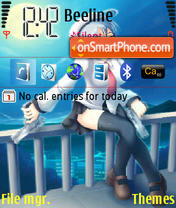 Anime Girls theme screenshot