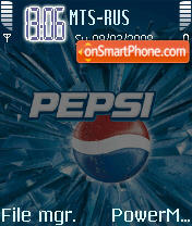 Animated Pepsi theme screenshot