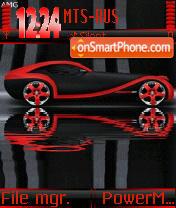 Red Car Animated s60 es el tema de pantalla