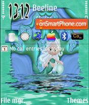 Green Mermaid tema screenshot