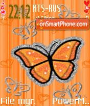 Orange Bfly1 theme screenshot