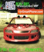 NFS MW Lancer Evolution 8 es el tema de pantalla