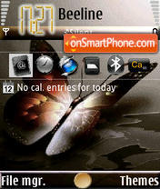 Magic Butterfly theme screenshot