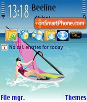 Summer Sea theme screenshot