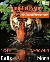 Tiger near water es el tema de pantalla