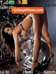 Wheel Girl theme screenshot