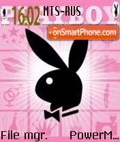 Playboy Pink theme screenshot
